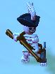 Skeleton musketeer
