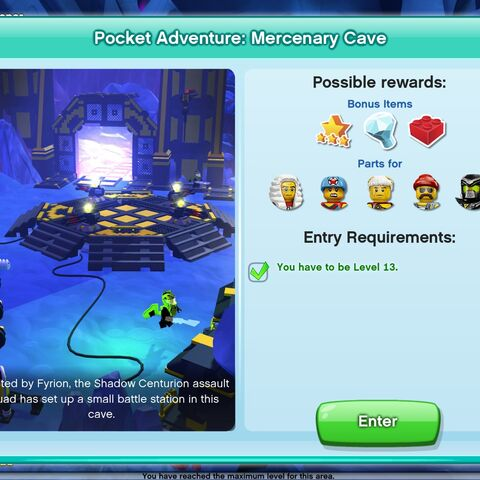 Mercenary Cave entrance screen