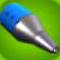 Classic Blue Rocket Nose Cone