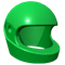 Green racing helmet