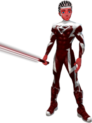 Red Superman Saber Red