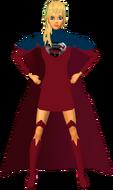Supergirl RedBlu Skirt 4