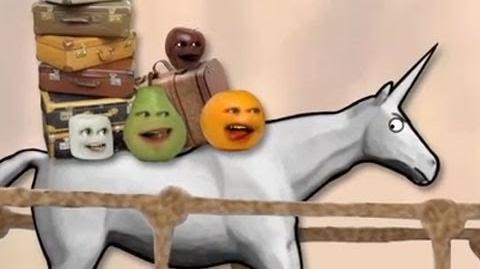 Annoying Orange meets Charlie the Unicorn