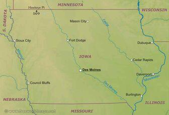 Iowa-map