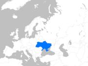 Europe map ukraine