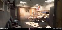 Hospital Room Concept Art by Gary Jamroz-Palma