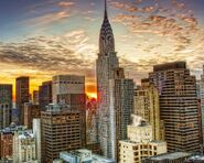 Cool-Chrysler-Building-New-Yorka-Sunset-Worlds-Wallpapers
