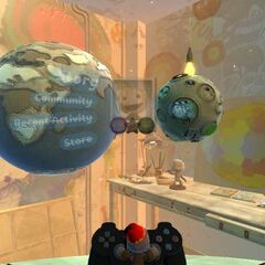 A player using the LBP2 Pod computer