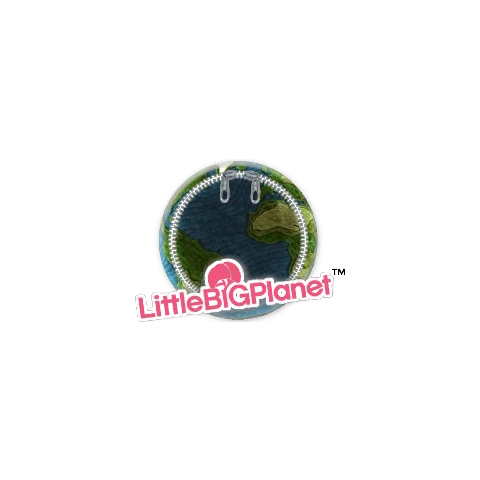A LittleBigPlanet Level Patch displaying an in-game sticker.