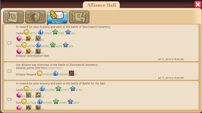 Alliance Hall - AB Report Tab