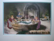 Washerwomen animation cel