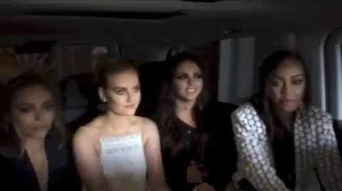 Little Mix on their way to the Radio 1 Teen Awards!