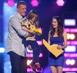 Laura presenting an award