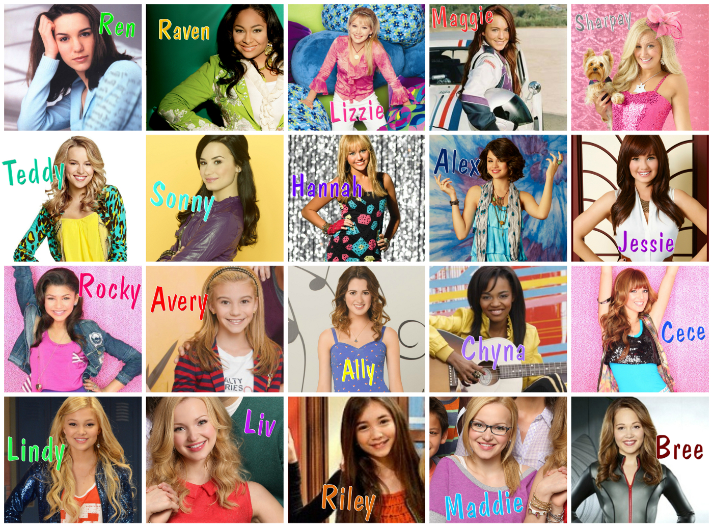image   disney channel girl character collage size   liv and