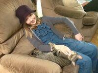 Cozi and cat