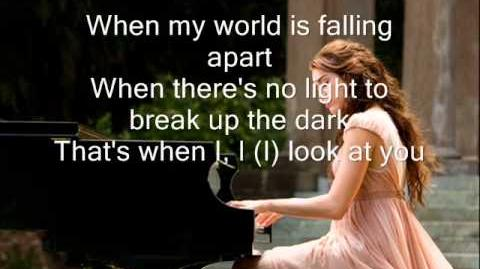 Miley Cyrus - When I Look At You ( lyrics )
