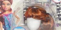 Curly auburn