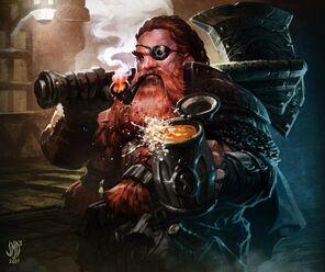 712x596 10690 Dwarf 2d illustration fantasy dwarf warrior picture image digital art
