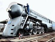 NYC Dreyfuss Hudson Polish colorizing locomotive