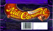 Cadbury's Nuts About Caramel - Double Chocolate (Packaging)