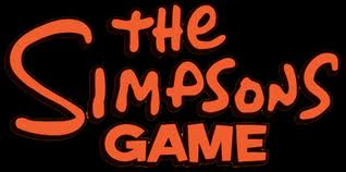 The simpsons game logo