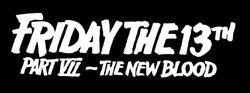Friday the 13th Part VII movie logo