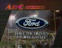 ABC Sports grafite (Ford ad before football game)