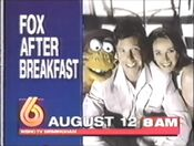 WBRC-TV Channel 6 promo for FOX after Breakfast in 1996