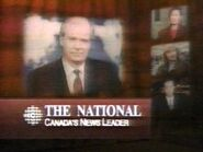 CBC-TV's CBC News' The National's Canada's News Leader Video Promo From 1992