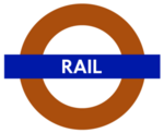 London Rail roundel small
