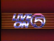 WEWS Logo 1982 Live on Five