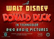 Donald Duck RKO opening title card