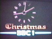 BBC1 Christmas clock 1976