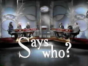 Says Who? Game Show Pilot Logo