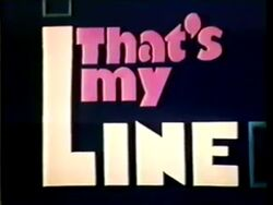 That's My Line