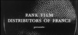 Rank Film Distributors Of France 1962 Logo