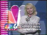 KBJR-TV's News 6's Barbara Reyelts Video ID From August 1998