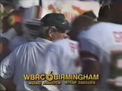 WBRC Channel 6 ID during Miami-Florida State November 16, 1991