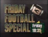 WVTM-TV Alabama's 13 Friday Football Special promo 1992
