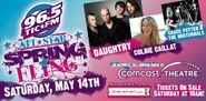 WTIC-FM's 96.5's All-Star Spring Fling Concert Promo For May 14, 2011