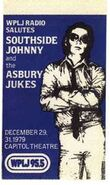WPLJ-FM's 95.5's Salutes Southside Johnny And The Asbury Jukes At The Capitol Theater Promo For Late December 1979