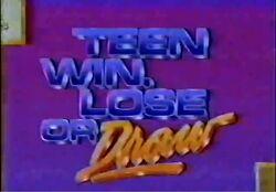 Teen Win, Lose or Draw '89 Promo