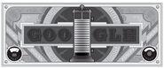 Google Alessandro Volta's 270th Birthday (Black and White Version)