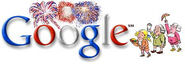 Google Fourth of July celebration