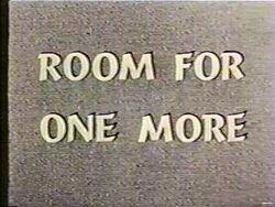 Roomforonemore