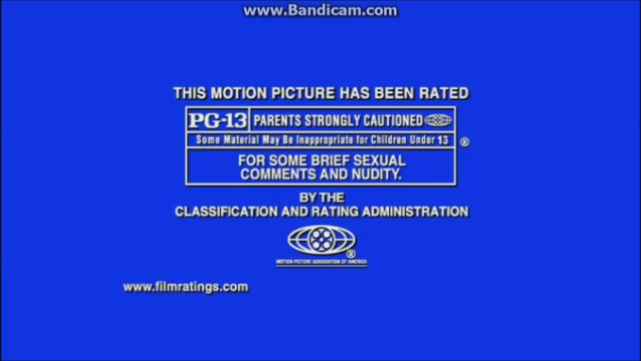 MPAA PG-13 Rating (Welcome To Mooseport Variant