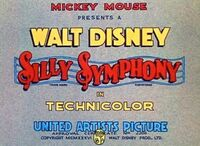 Silly Symphony UA Title Card