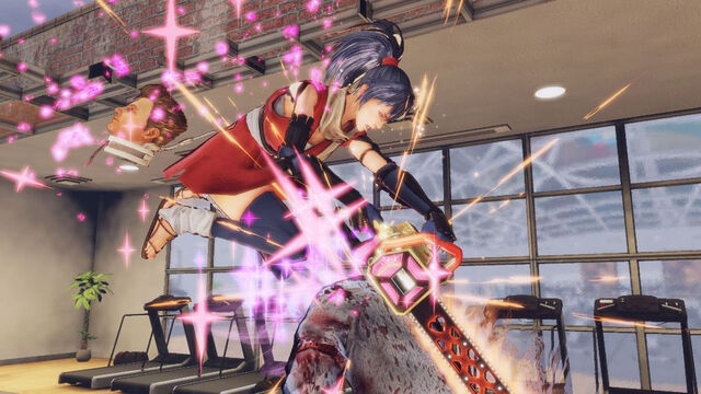 File:Lollipop Chainsaw Screenshot Juliet in Chifusa Manyū cosplay executing a Combo attack.jpg