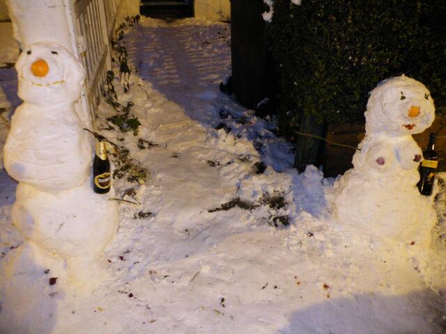 File:Snow man and snow woman.JPG