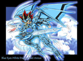 Blue Eyes Whte Drgn Duel Armor by slifertheskydragon